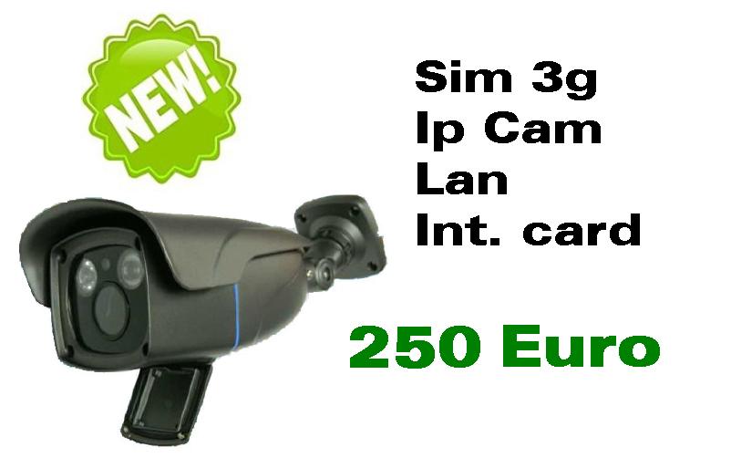 Telecamera 3g 4g Sim ip lan memory card interna